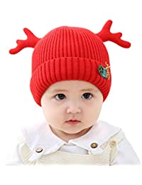 e7d3c3b6f6f kakaforsa Baby Girls Beanie Winter Knitted Hat Cap for Toddlers Newborns Red