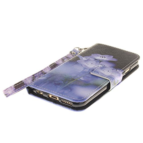 "Apple iPhone 7 Coque Cuir Portefeuille, iPhone 7 Case, Etui iPhone 7 4.7"" Rabat Style Flexible PU Joli Original Peinture - Fâché Don't Touch My Phone Noir-2"