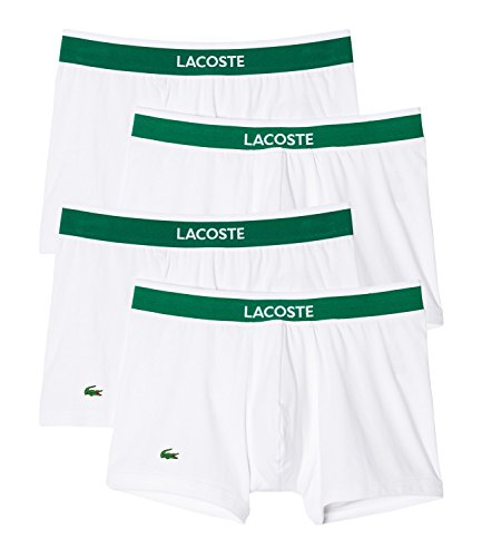 LACOSTE Herren Boxershorts Boxer Shorts Trunk Colours 150957 4er Pack weiß (100)