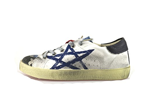 ISHIKAWA KIDS sneakers bambino blu tela bianco AH964 (28 EU)