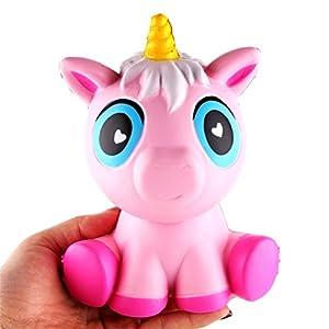 Squishy juguete, Kfnire jumbo unicornio juguete juguete de apretón lento aumento de Kfnire