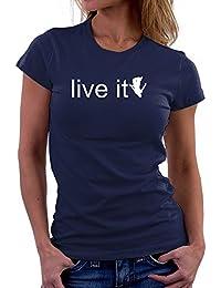 Teeburon LIVE it Parkour Silhouette Camiseta Mujer