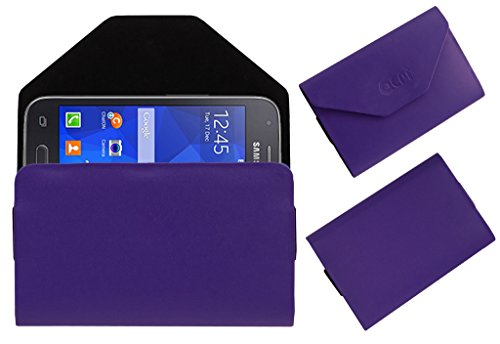 Acm Premium Pouch Case For Samsung Galaxy S Duos 3 Sm-G313hu Flip Flap Cover Holder Purple  available at amazon for Rs.389