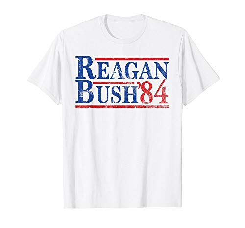 Reagan Bush 84 T-Shirt Ronald Reagan for President 1984 -