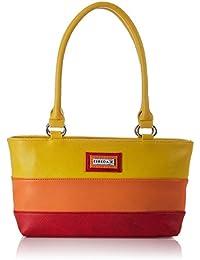 ESBEDA Multi color Striped Pu Synthetic women's Handbag