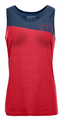 ORTOVOX 150 COOL LOGO TANK TOP W HOT CORAL L - Hoch Tencel Großen T-shirt