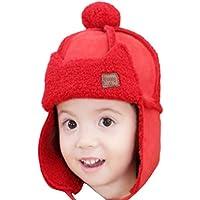 Sombrero para niños Invierno Bebé Lei Feng Hat Plus Velvet Earmuffs Warm Hat 1-3 años de antigüedad Cold Hat Adecuado para Actividades al Aire Libre (Color : Segundo, tamaño : 1-3 Years Old)