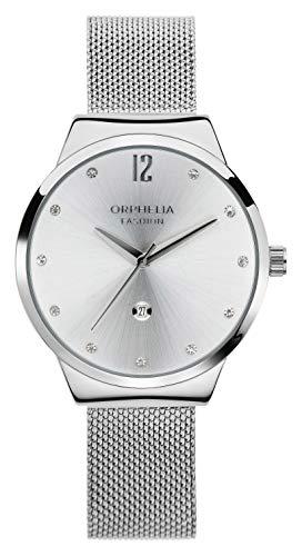 Orphelia Fashion Damen Analog Quartz Uhr Optima mit Mesh Edelstahl Armband