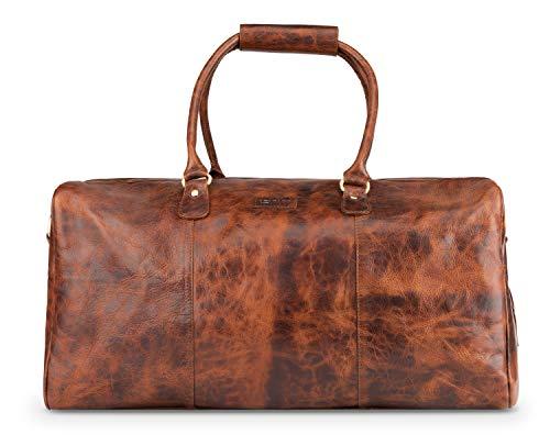 LEABAGS Tokio Reisetasche aus echtem Büffel-Leder im Vintage Look - FurryVinkat
