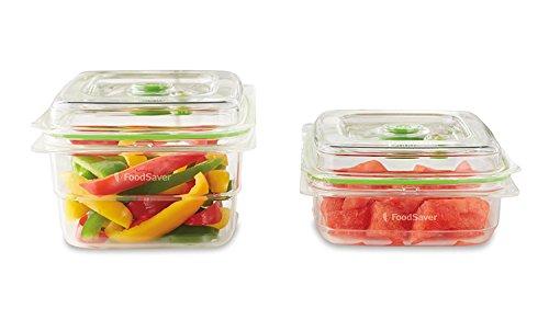 Foodsaver FFC015X-01 Fresh containers, Plástico, Transparente y Verde