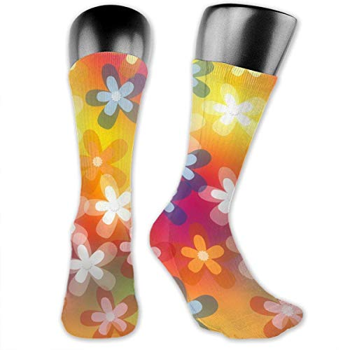Unisex Performance Cushion Crew Socks Calcetines de tubo Dream Floral New Middle High Calcetines Sport Calcetines deportivos