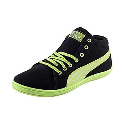 Lancer Men's Life Style-2 Blk-Pgn-40 Black Canvas Sports - Sneakers - 6 UK