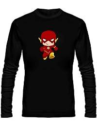 T Shirt - Full Sleeve Round Neck Flash Run Graphics Printed 100% Cotton T Shirt - Kid Flash Run Graphics Print...