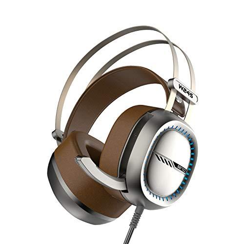 HUAXING Gaming Headset, Over-Ear Gaming Kopfhörer mit Mikrofon, Bass Stereo Surround Sound Lautstärkeregler, 3,5 mm Klinke, kompatibel mit PS4 Pro / PS4 Xbox Nintendo Switch PC Laptop Tisch