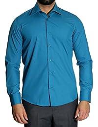 MUGA - Camisa formal - Básico - Clásico - Manga Larga - para hombre