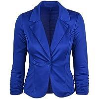 TWBB Damen OL Stil Kleiner Anzug,Blazer Revers Pullover Mantel Einfarbig Kurz Passen