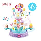 RIANZ All New Ice Cream Stand Cart Rotating Toy With Music And Light / Pretend Play Food Toy / Kitchen Play Set For Kids 1 Pc