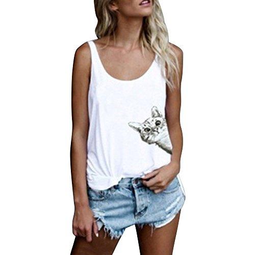 Luckycat Ropa Mujeres Camisetas sin Mangas Tank Top