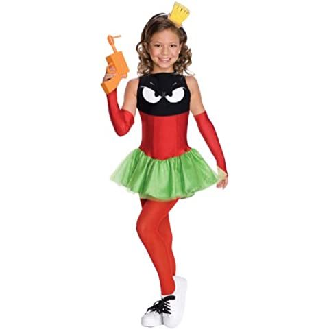Looney Tunes Marvin the Martian Girl Halloween Costume - Child Size Large