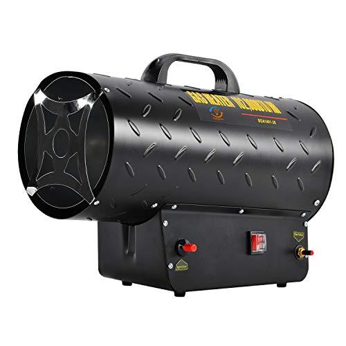 30kW / 102,000BTU Gas Heizgerät Industrieller LPG Propan Gas Raum Hochleistungsheizer mit elektrischem unterstütztem Ventilator Schwerlast Tragbares Design (Tragbares Propan-gas-heizung)