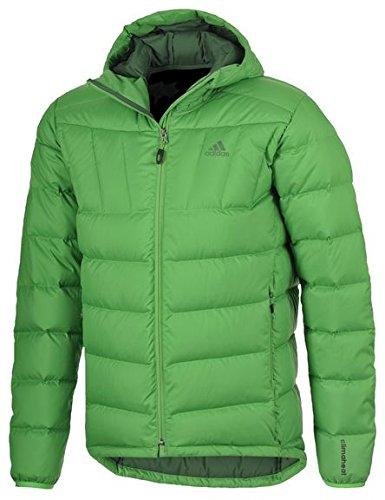 Adidas, Giacca da outdoor Uomo. Piumino. Outdoor Tempo Libero. Mantiene caldo. Green., Uomo, verde