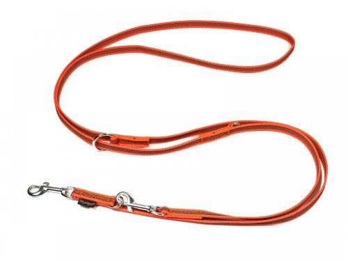 Artikelbild: Mystique® Gummierte Umhängeleine Leine 15mm Standard Karabiner neon orange 2,5m