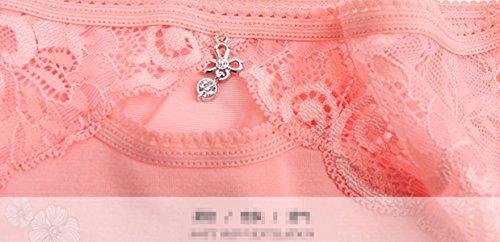 3 Beutel Der Frauen-Spitze-reizvolle Transparente Und Komfortable Spur In Der Unterwäsche Baumwolle Schrittgurt Taille Dreieck Frauen A1