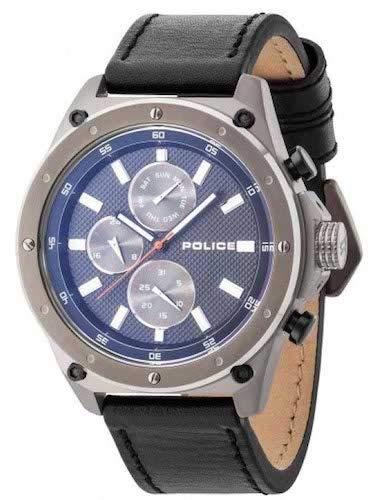 Police Contact Montre pour homme Noir/gris/bleu pl14537jsu. 02A