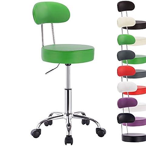 WOLTU® BH34gn-1 Tabouret pivotant,chaise pivotante chaise de bureau avec dossier