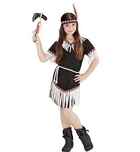 Imagen de widmann  disfraz de indio para niña, vestido, cinturón y diadema, tamaño 128 w0669 s  alternativa