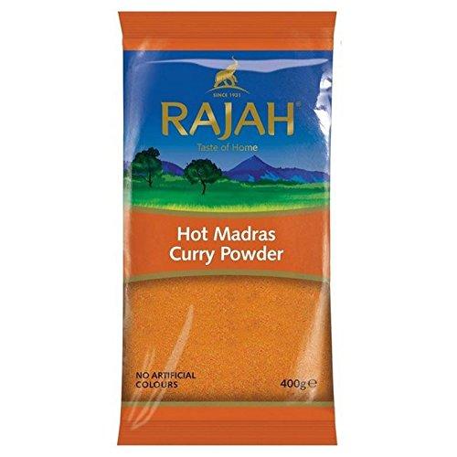 Rajah Heißen Madras Curry-Pulver 400G