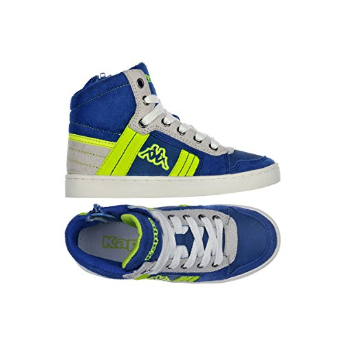 Kappa Valessia Kid Sportive Alte Nuovo Scarpe Ba. BLUE ROYAL LIME
