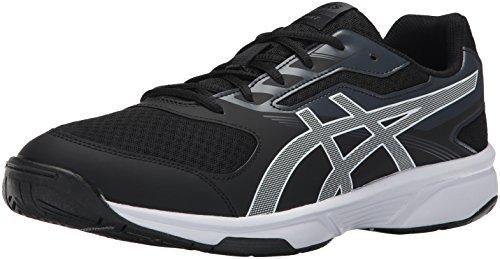 8164553f43 ASICS Mens Upcourt 2 Volleyball Shoe, Black/White/Phantom, 15 Medium US