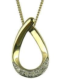 Pendentif - Femme - Or jaune (9 carats) 1.64 Gr - Diamant 0.05 Cts