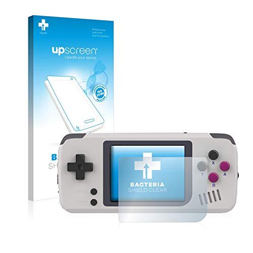 upscreen Antibakterielle Schutzfolie kompatibel mit Pocket Go Handheld klare Displayschutz-Folie