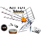 One For All SV9455, Antena de TV para Exterior, Recibe TDT en ...