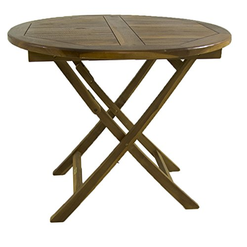 Mesa de jardín Teca Redonda de 90 cm | Madera Teca Grado A ...
