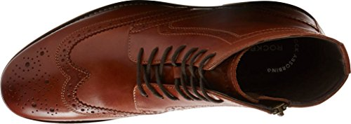 Rockport - Chaussures de démarrage Wyat Wingtip pour homme Cognac Le