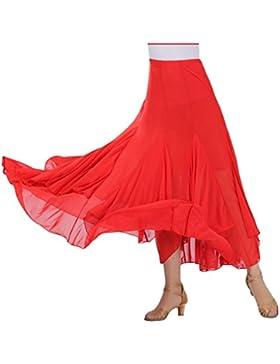 Danza Del Vientre Falda Profesional Gasa Falda Larga Falda de la Mujer