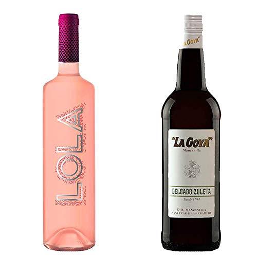 Lola Rosado Y Manzanilla La Goya - D. O. Campo De Borja Y D. O. Manzanilla De Sanlúcar De Barrameda - 2 Botellas De Vino De 750 Ml