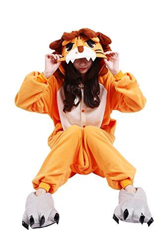 Imagen de yuwell adulto kigurumi pijamas unisex traje disfraz adulto animal pyjamas halloween navidad, león m height 160 170cm  alternativa