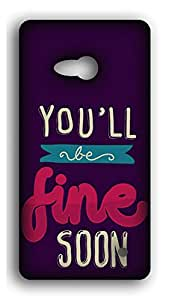 Happoz You'll be Fine Soon Samsung Galaxy C9 Pro back case Mobile Phone Back Panel Printed Fancy Pouches Accessories Z1170