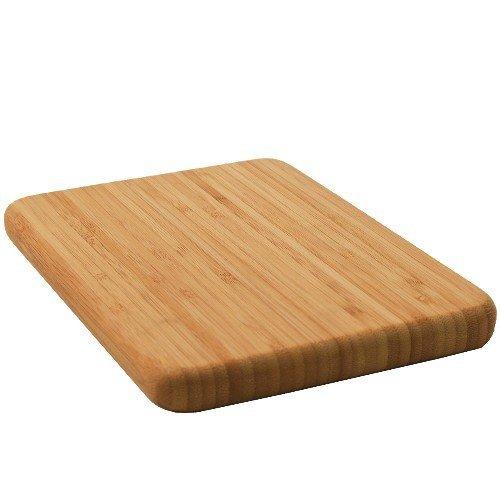Compact Solid Bamboo Bar Cutting Board - 5 X 8 by BigKitchen Bamboo-bar-board