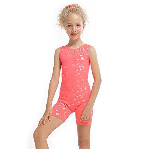 Y Mädchen Kinder Ballett Kleid Gymnastic Trikots Sleeveless Tanz Overall Tanzen Biketard Dancewear Kostüm (Biketard Kostüm)