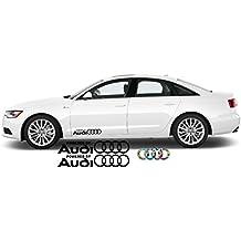2x Adhesivo alimentado por Audi Aufkleber 60x 10,5cm Die Cut Audi Sport R8TT A1A3A8Q5Q7RS Auto Car Racing