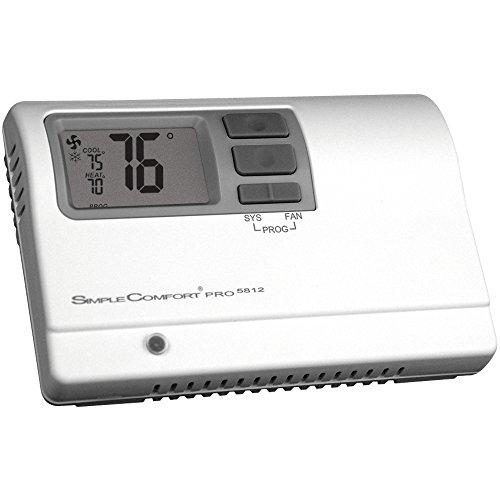 ICM Controls SC5812 Thermostat, 7 Tage, 5-1-1 oder 5-2 programmierbar, 3-stufige Wärme/2-stufige Kühl- oder Wärmepumpe
