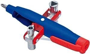 KNIPEX 00 11 07 Stift-Schaltschrank-Schlüssel für gängige Schränke und Absperrsysteme 145 mm
