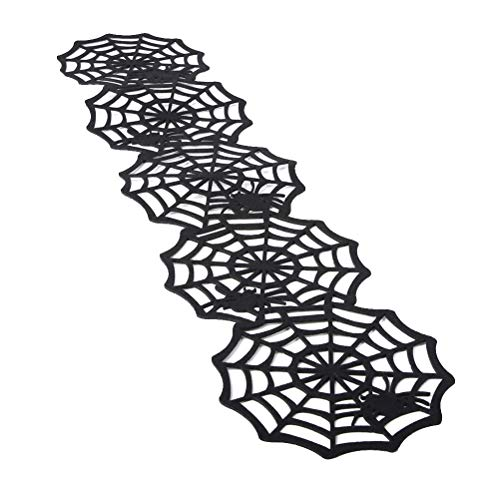 Amosfun Spider Web Cover Tischläufer für Bar Home Halloween Party Dekore