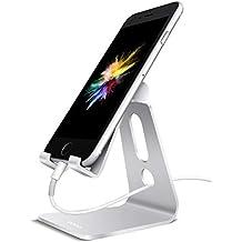 Eono Essentials Supporto Telefono, Dock Telefono : Multi-angolo Supporto Dock per Phone Xs Max XR X 8 7 6 6S Plus 5 5S 4 4S, HUAWEI, Samsung S9 S8 S7 S6, Scrivania, Altri Smartphone - Argento