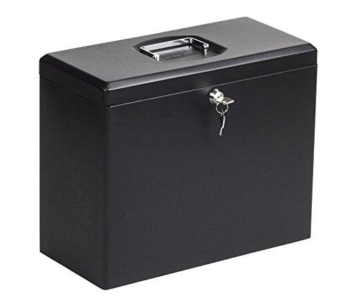 OfficeForce Ablagebox/Hängebox/Archivbox aus Metall, abschließbar, A4, schwarz (20094)